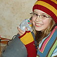 KC's Gryffindor Fingerless Gloves