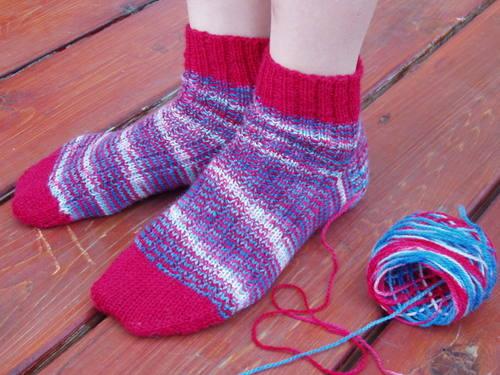 Lavender Sheep's Patriot socks